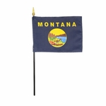 "4"" X 6"" Montana Stick Flags"