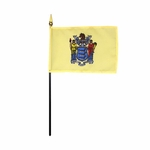 "4"" X 6"" New Jersey Stick Flags"