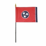 "4"" X 6"" Tennessee Stick Flags"