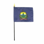 "4"" X 6"" Vermont Stick Flags"