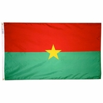 5' X 8' Nylon Burkina Faso Flag