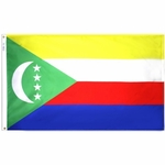 5' X 8' Nylon Comoros Flag
