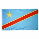 5' X 8' Nylon Democratic Republic of Congo Flag