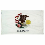 5' X 8' Nylon Illinois State Flag