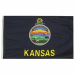 5' X 8' Nylon Kansas State Flag