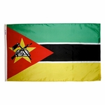 5' X 8' Nylon Mozambique Flag