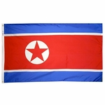 5' X 8' Nylon North Korea Flag