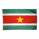 5' X 8' Nylon Suriname Flag