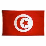 5' X 8' Nylon Tunisia Flag