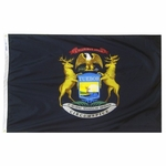 6' X 10' Nylon Michigan State Flag