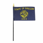 "8"" X 12"" Oregon Stick Flags"