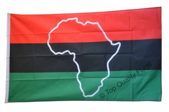 African American Flag (With Africa)