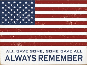 Always Remember US Flag Plaque