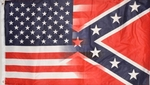 American & Confederate Blended 3' X 5' Flag