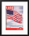 American Flag Framed Life Cover, July 6th 1942
