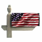 American Flag Mailbox Cover