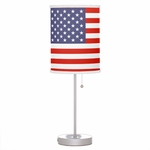 American Flag Table Lamp