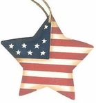 Americana Star Flag Ornament