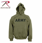 Army PT Pullover Hooded Sweatshirt - Olive Drab