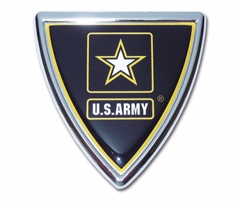 Army Shield Chrome Auto Emblem