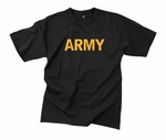 Black Army Training Shirt