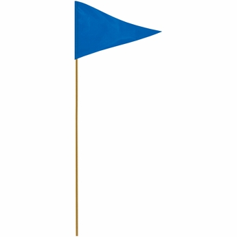 "Blue 12"" X 18"" Mounted Pennant Flag"