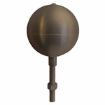 Bronze Aluminum Ball Outdoor Flagpole Ornament