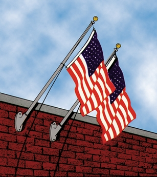 Franklin Series Outrigger Flagpole Kit