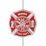 Cast Aluminum Firefighters Memorial Grave Marker