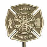 Cast Bronze Firefighters Memorial Grave Marker