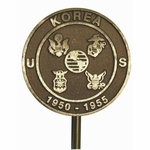 Cast Bronze Korean War Veteran Grave Marker
