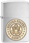 Chrome US Army Zippo Lighter
