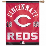 Cincinnati Reds Vertical Flag