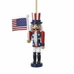Classic American Flag Nutcracker Ornament