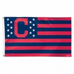 Cleveland Indians Stars and Stripes MLB Flag