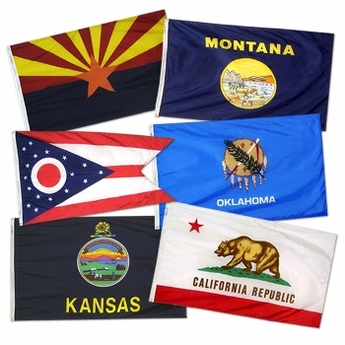 Complete Set of 50 Premium Nylon Outdoor State Flags