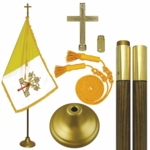 Deluxe 7' Papal Flag Set