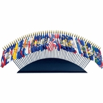 Deluxe Black Wood Table Base for Mounted Flags