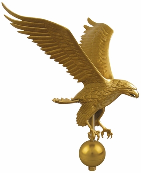 Deluxe Gold Eagle Outdoor Flagpole Ornament