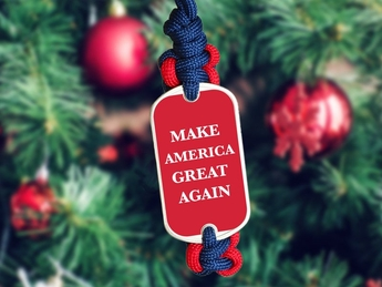 Donald Trump Christmas Ornament
