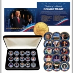 Donald Trump Collectible Boxed 24K Gold Plated Coin Set