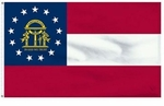Economy Printed Georgia State Flags