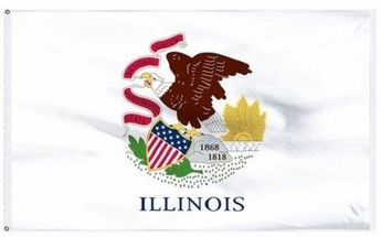 Economy Printed Illinois State Flags