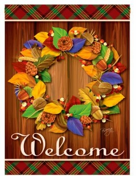 Fall Wreath Garden Banner