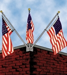 Franklin Series Triple Corner Flagpole Set