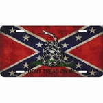 Gadsden Rebel Confederate Flag License Plate