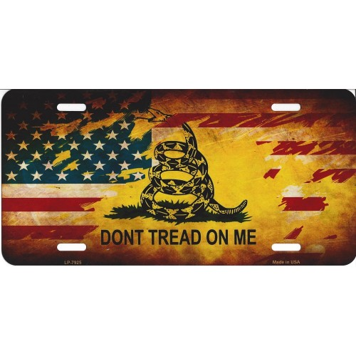 gadsden us flag dont tread on me license plate - Don T Tread On Me License Plate Frame