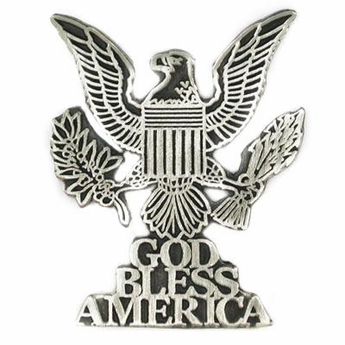 God Bless America Eagle Pin