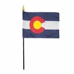 Handheld Colorado State Flags