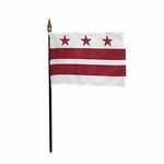 Handheld District of Columbia State Flags